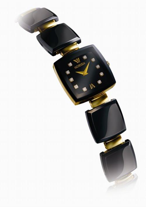瑞士腕表品牌罗马表-梦幻陶瓷系列黑款高清图片